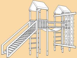 Arundel Twin DYO/modular climbing frames