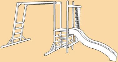 Monkey Bar DYO/modular climbing frames