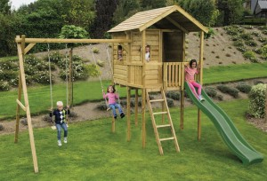 Gate Lodge Wooden Climbing Frame without Lower Den/climbing frames