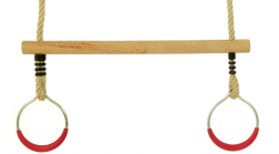 Trapeze-Bar-Wooden-With-Plastic-Coated-Steel-Rings